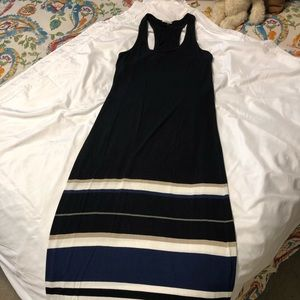 Club Monaco racer back maxi dress